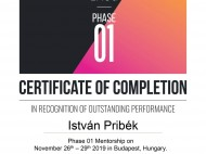Education Certificates - István Pribék